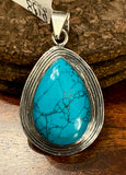 Turquoise Pendant set in Sterling Silver available in other stones.