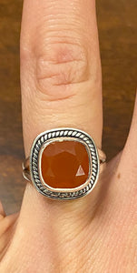 Carnelian Ring set in Sterling Silver