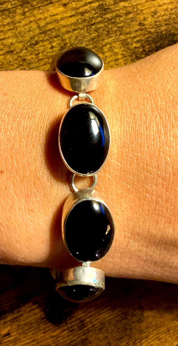 Onyx Bracelet set in Sterling Silver use code SALE at checkout