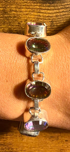 Mystic Topaz Bracelet set in Sterling Silver