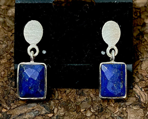 Lapis Earrings set in Sterling Silver available in other stones