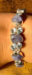 Tanzanite and Sky Blue Topaz Bracelet set in Sterling Silver