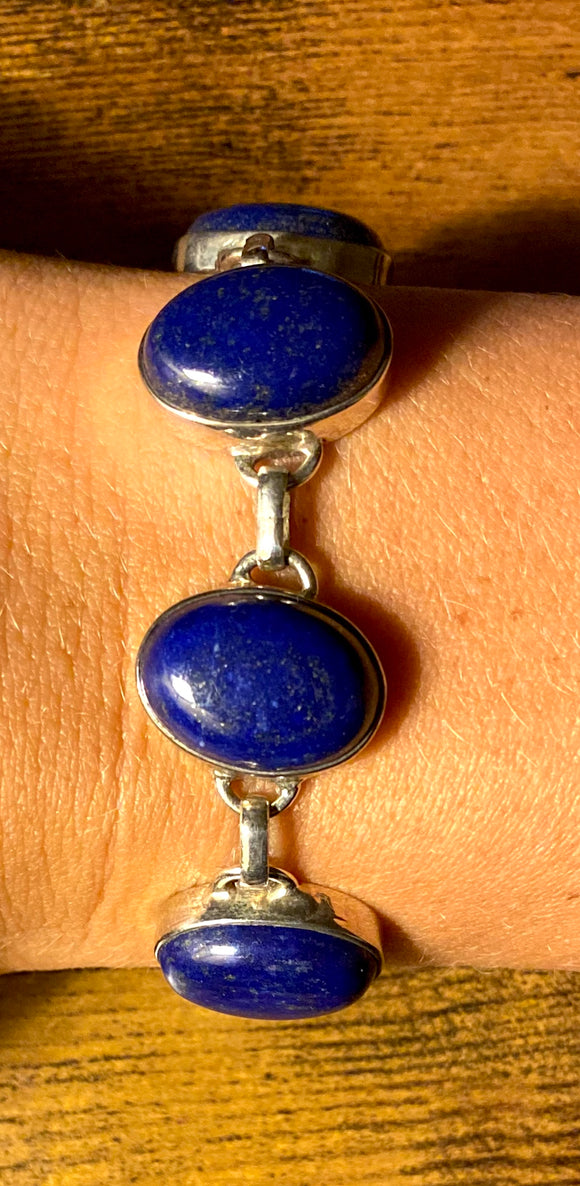 Lapis Bracelet set in Sterling Silver