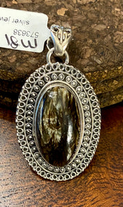 Brown Seraphinite Pendant set in Sterling Silver