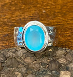 Chalcedony Ring set in Sterling Silver also available in other stones