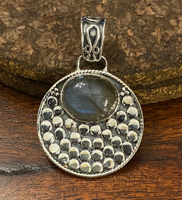 Labradorite Pendant set in Sterling Silver also available in other stones