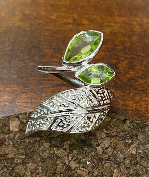 Peridot Ring set in Sterling Silver also available in other stones
