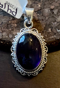 Amethyst Pendant set in Sterling Silver