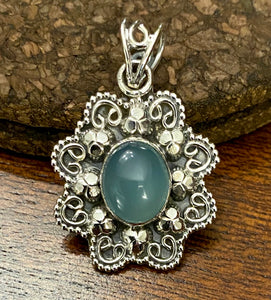 Chalcedony Pendant set in Sterling Silver