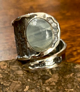 Chalcedony Ring set in Sterling Silver
