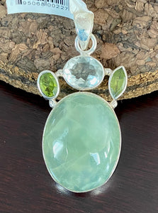 Prehnite Pendant set in Sterling Silver