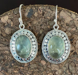 Chalcedony Earrings set in Sterling Silver also available in other stones