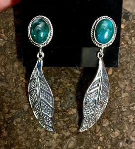 Turquoise Earrings set in Sterling Silver