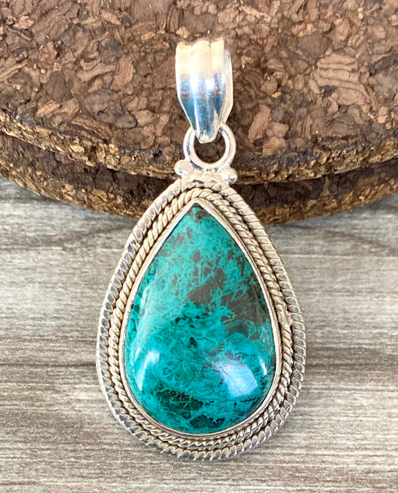 Turquoise Pendant set in Sterling Silver