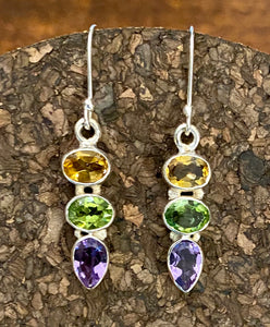 Semi-Precious Stone Earring set in Sterling Silver