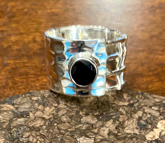 Black Onyx Ring set in Sterling Silver