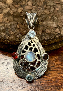 Multi-Stone Pendant set in Sterling Silver