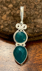 Green Onyx Pendant set in Sterling Silver