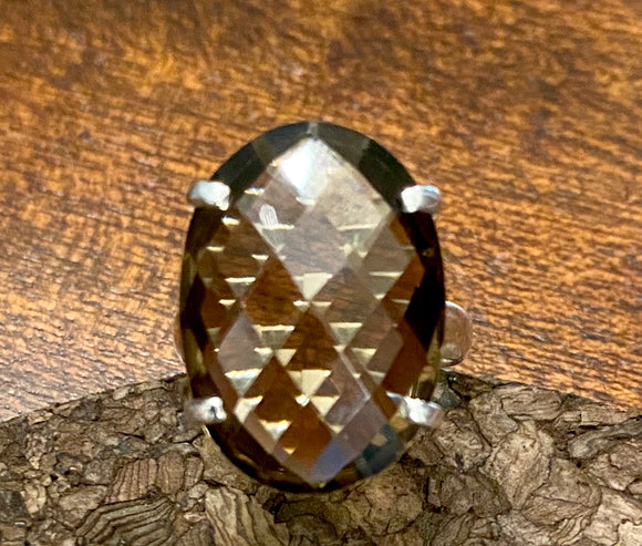 Smoky Quartz Ring set in Sterling Silver