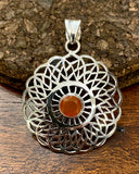 Carnelian Pendant set in Sterling Silver also available in other stones