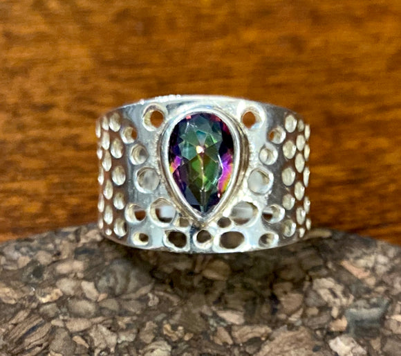 Mystic Topaz Ring set in Sterling Silver available in other stones