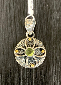 Peridot Pendant set in Sterling Silver