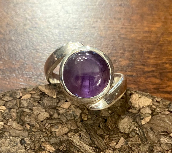Amethyst Ring set in Sterling Silver also available in other stones