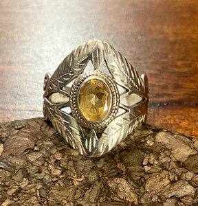 Citrine Ring set in Sterling Silver