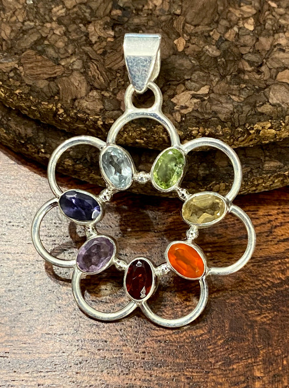 Chakra Pendant set in Sterling Silver