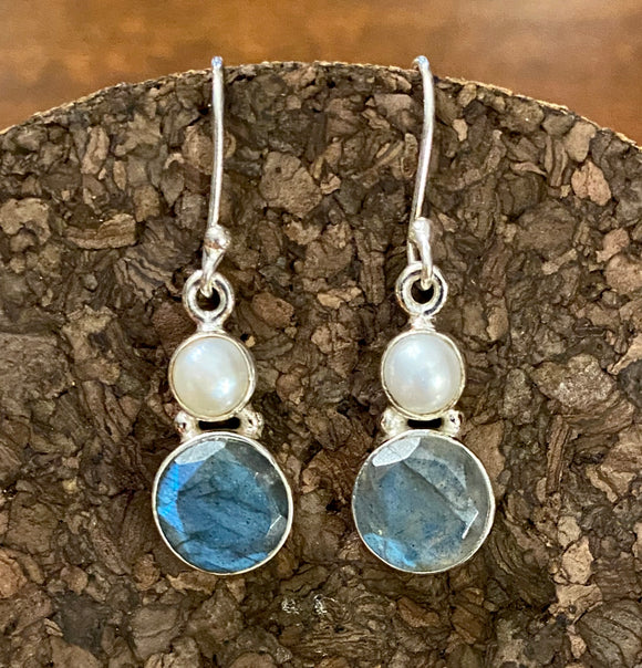 Labradorite Earrings set in Sterling Silver