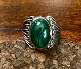 Malachite Ring set in Sterling silver other stone options available