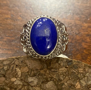 Lapis Ring set in Sterling Silver also available in other stones