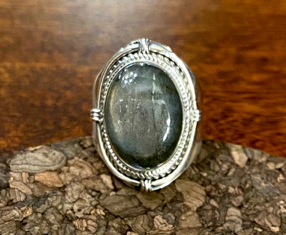 Labradorite Ring set in Sterling Silver also available in other colors