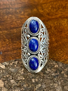 Lapis Ring set in Sterling Silver