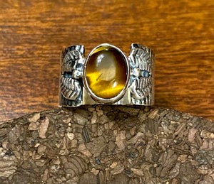 Tiger Eye Ring set in Sterling Silver