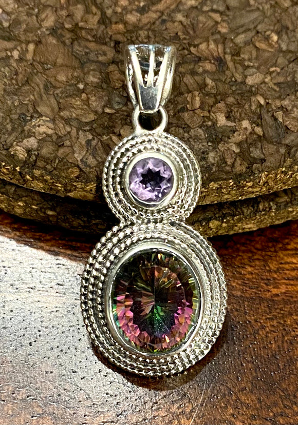 Mystic Topaz Pendant set in Sterling Silver