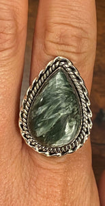 Sterling Silver Seraphinite Ring