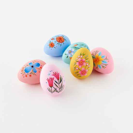 Hand Painted Eggs with Floral