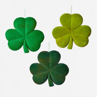 Large Flocked Shamrock