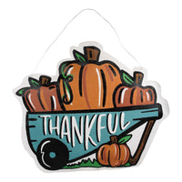 Thankful-Christmas Sleigh Reversible Door Hanger
