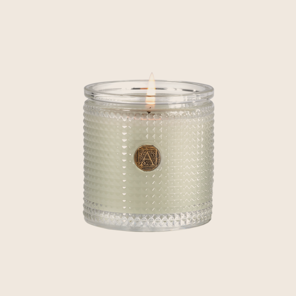 Fresh Hydrangea Textured Glass Candle 6oz