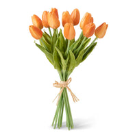 "13.5"" Orange Real-Touch Mini Tulip Bunch"