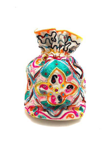 Multi-Colored Bucket Bag