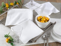 "Set of 4 Pure Linen 6"" Napkins"