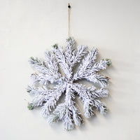 Snowflake Hanging Décor White