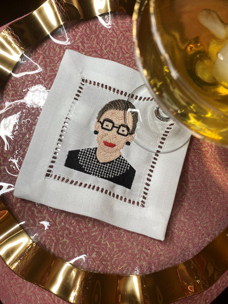RBG Napkins: Set of 4 (Ruth Bader Ginsburg)