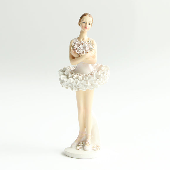 Ballerina Figurine (Standing, arms crossed)