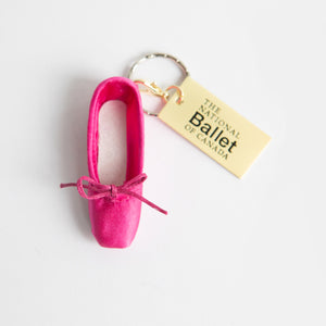 Pointe Shoe Keychain