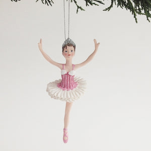 Ballerina Ornament (Pink Resin)