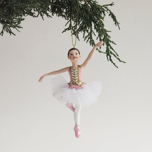 Ballerina Ornament (Pink with real tutu)